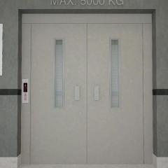 Полуавтоматическая дверь грузового лифта
