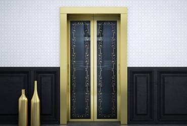 дизайнерские двери лифта