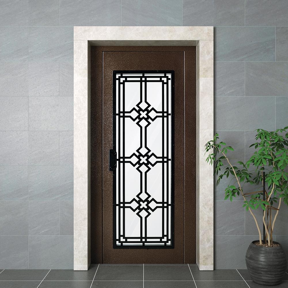 Полуавтоматическая железная дверь